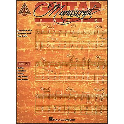 Hal Leonard Guitar Recorded Version Manuscript Paper