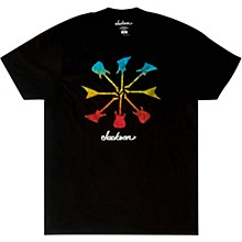 Jackson Guitar Shapes T-Shirt - Black