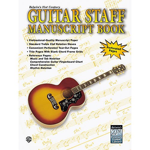 Alfred Guitar Staff Paper Book
