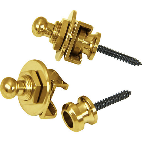 Schaller Guitar Strap Locks and Buttons (Pair)