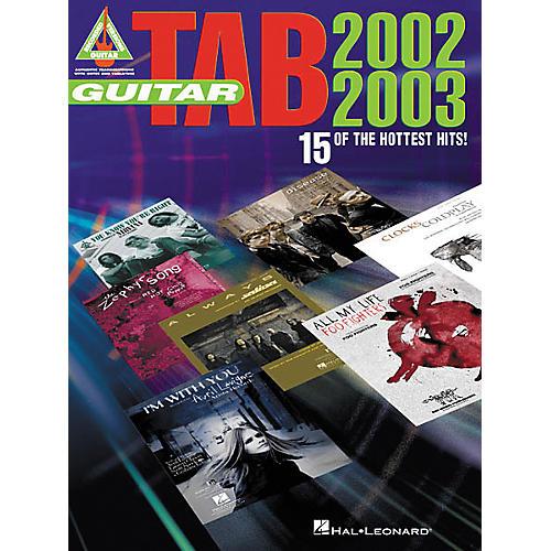 Hal Leonard Guitar Tab 2002-2003 Book