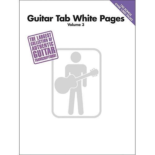 Hal Leonard Guitar Tab White Pages Volume 3