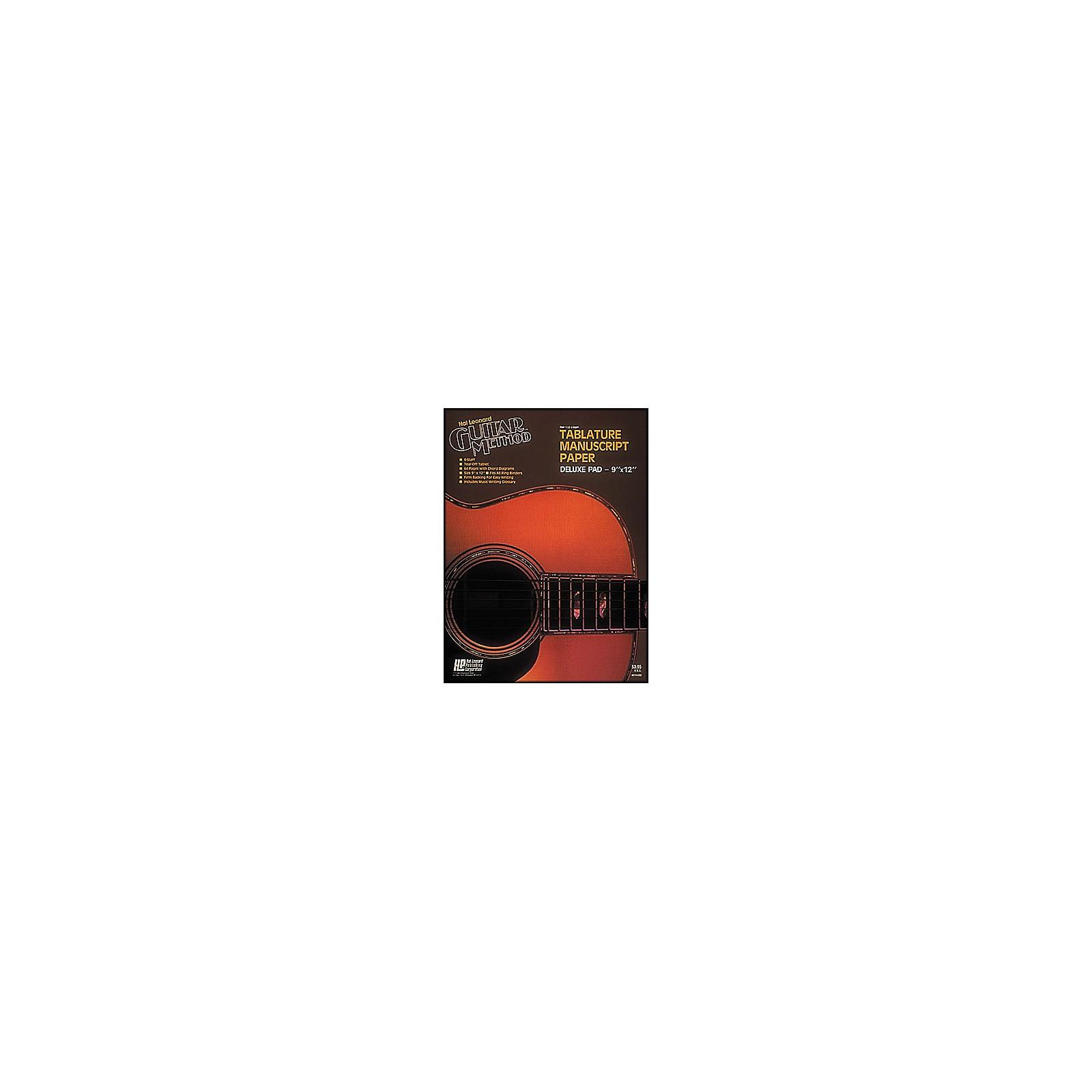 Hal Leonard Guitar Tablature Manuscript Paper Deluxe