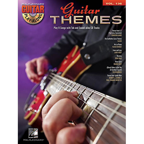 Hal Leonard Guitar Themes (Guitar Play-Along Volume 136) Guitar Play-Along Series Softcover with CD by Various