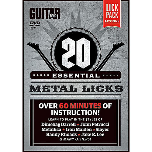 Alfred Guitar World 20 Essential Metal Licks DVD