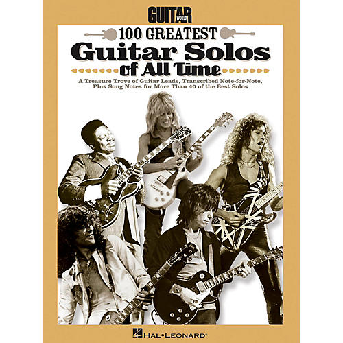 Hal Leonard Guitar World's 100 Greatest Guitar Solos Of All Time