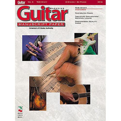 Cherry Lane Guitar(TM) Magazine Manuscript Paper - #3 Tab Staff - 9 inch. x 12 inch. Guitar Book Series