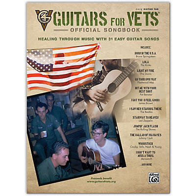 Alfred Guitars for Vets: Official Songbook Easy Guitar TAB