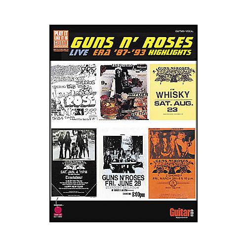 Cherry Lane Guns N' Roses - Live Era 1987-1993 Highlights Book