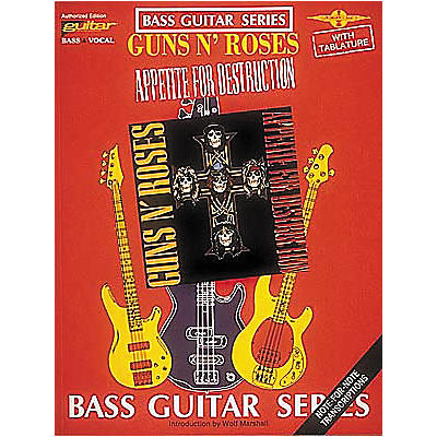 Cherry Lane Guns N' Roses Appetite for Destruction Bass Guitar Tab Songbook