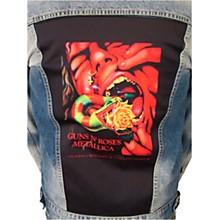 Dragonfly Clothing Guns N Roses & Metallica - Serpent Scream Mens Denim Jacket