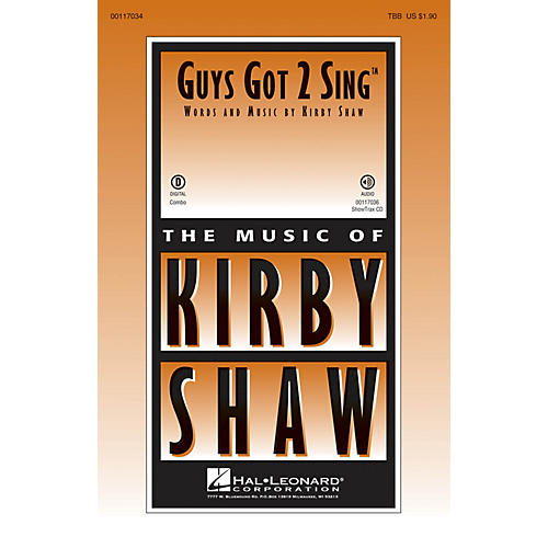 Hal Leonard Guys Got 2 Sing ShowTrax CD Composed by Kirby Shaw