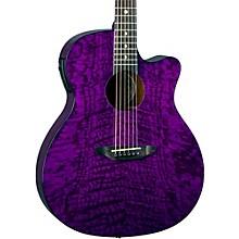 Open BoxLuna Guitars Gypsy Grand Concert Ash Acoustic-Electric Guitar