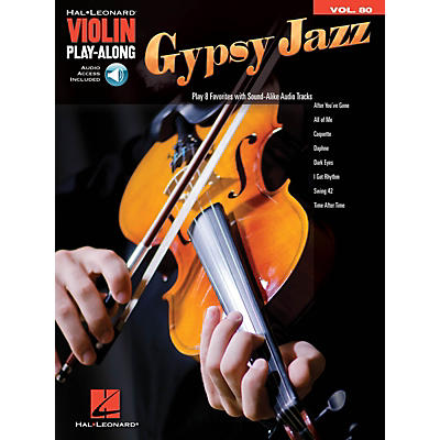 Hal Leonard Gypsy Jazz Violin Play-Along Volume 80 Book/Audio Online