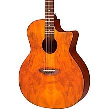 Open BoxLuna Guitars Gypsy Spalt Grand Concert Acoustic Guitar