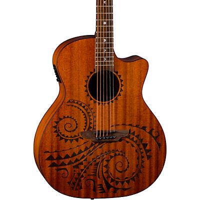 Luna Guitars Gypsy Tattoo Mahogany Acoustic-Electric Grand Concert Guitar