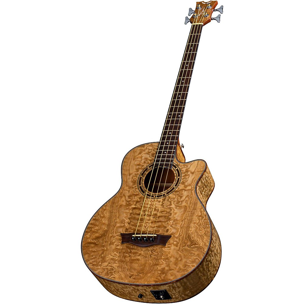 Dean Exotica Quilted Ash Acoustic Electric Bass Guitar