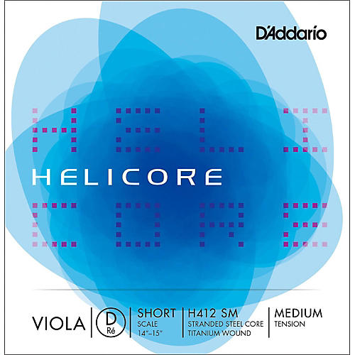 D'Addario H412 Helicore Long Scale Viola D String