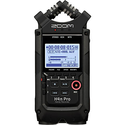 Zoom H4n Pro Handheld Recorder, All-Black Edition