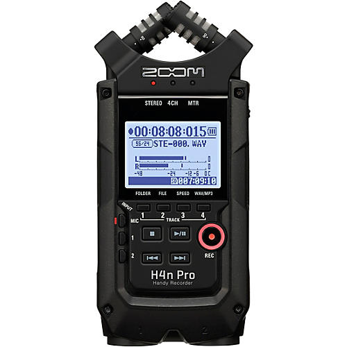 Zoom H4n Pro Handheld Recorder, All-Black Edition