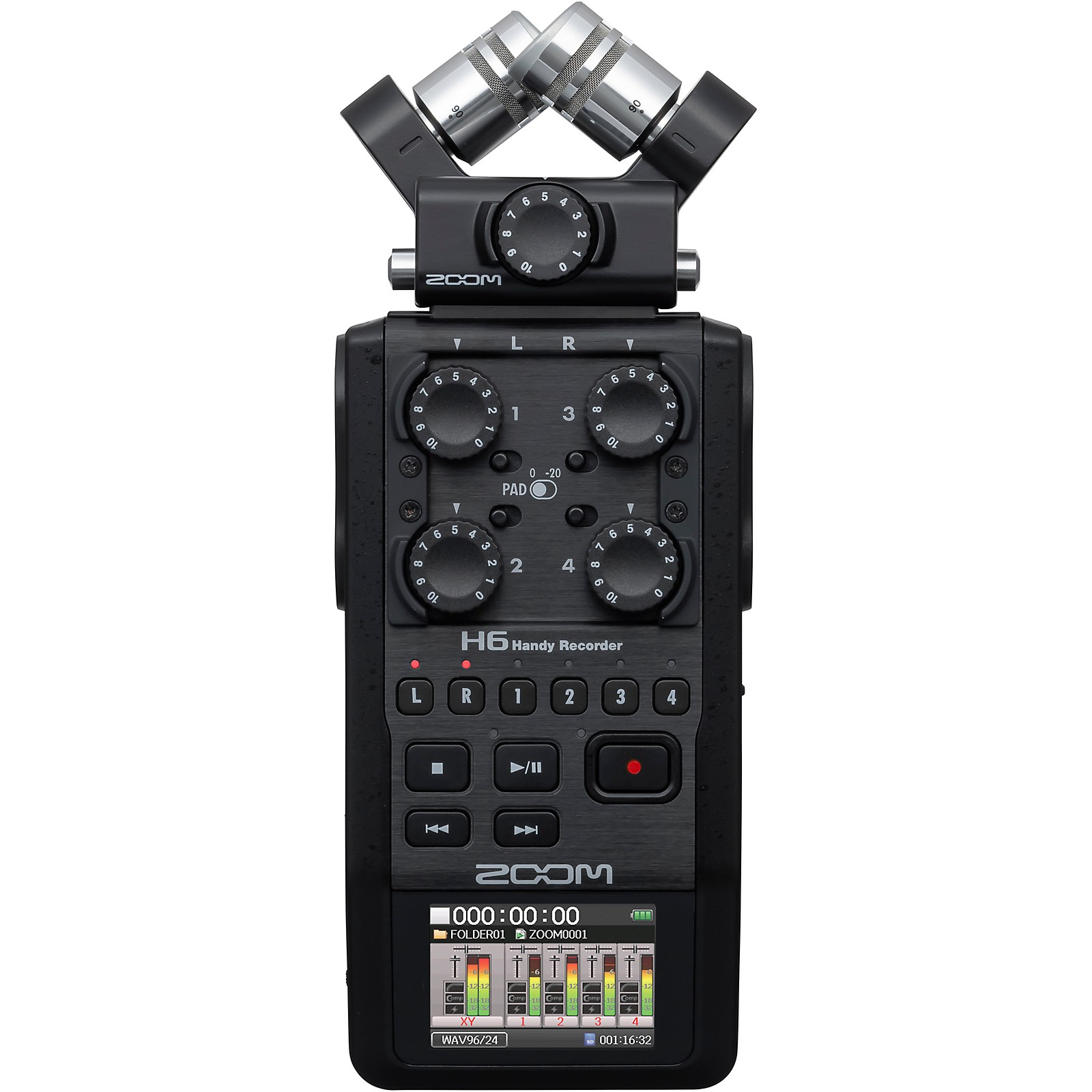 Zoom H6 Pro Handheld Recorder, All-Black Edition