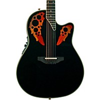 Ovation Elite 2078 Ax Deep Contour Acoustic-Electric Guitar Black