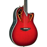 Ovation Custom Elite C2078 Ax Deep Contour Acoustic-Electric Guitar Red Tear Drop