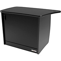 Omnirax Om13dl 13-Rackspace, Cpu Cubby, And Door To Fit On The Left Side Of The Omnidesk - Black