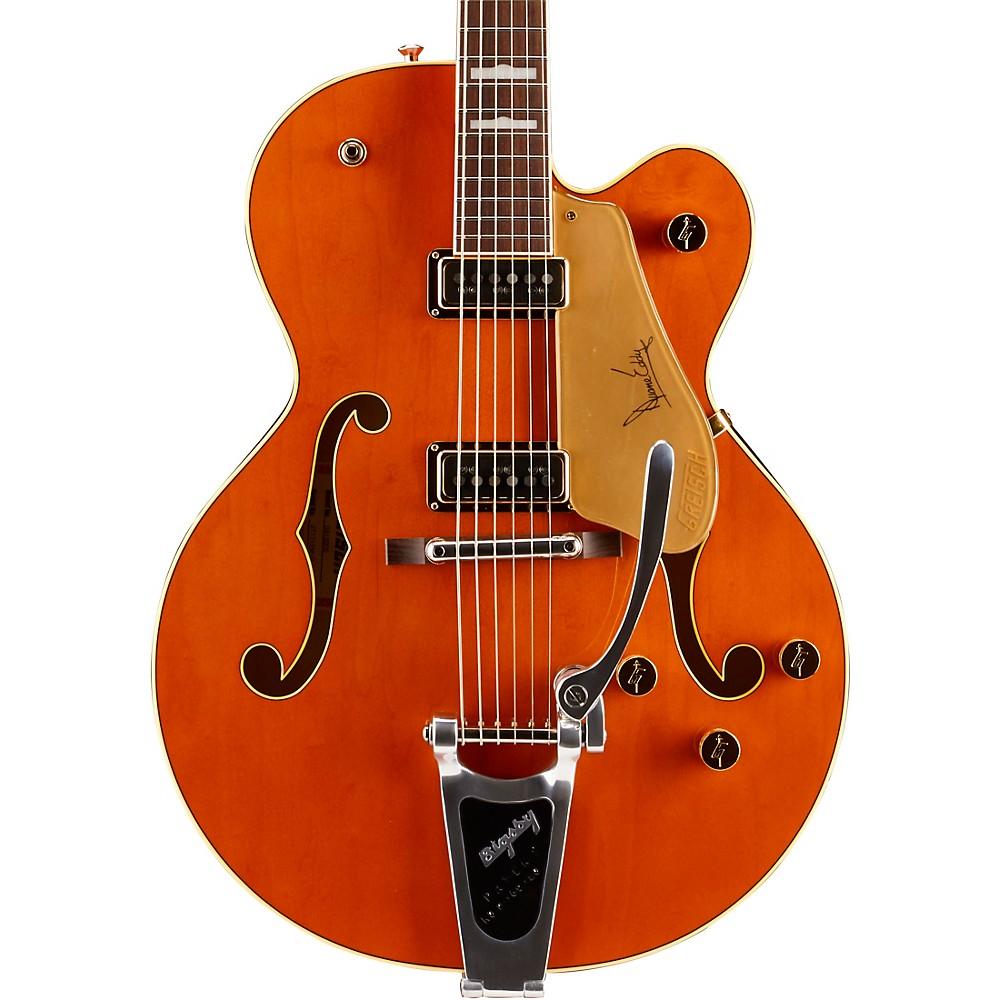 Gretsch Guitars G6120de Duane Eddy Hollowbody Electric Guitar Western Orange Stain