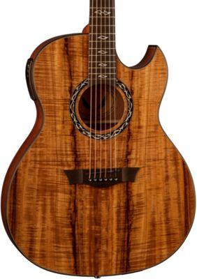 Dean Exhibition Thin Body Acoustic Electric Guitar W Aphex Koa