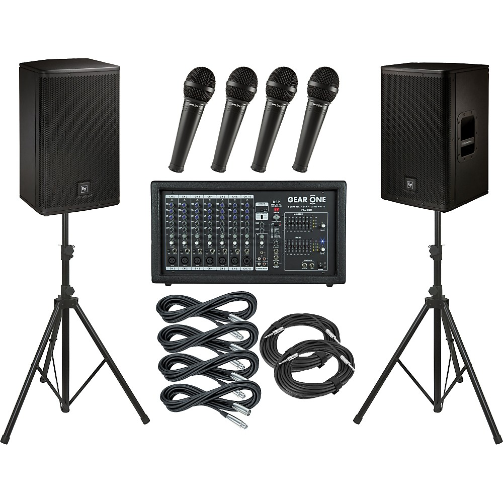 Gear One Pa2400 / Electro-Voice Elx112 Pa Package