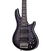 Schecter Guitar Research Hellraiser Extreme-5 Electric Bass Guitar Satin See-Thru Black