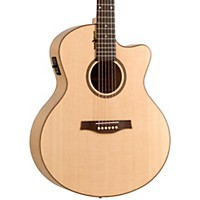 Seagull Amber Trail Cw Mini Jumbo Sg Acoustic-Electric Guitar Natural