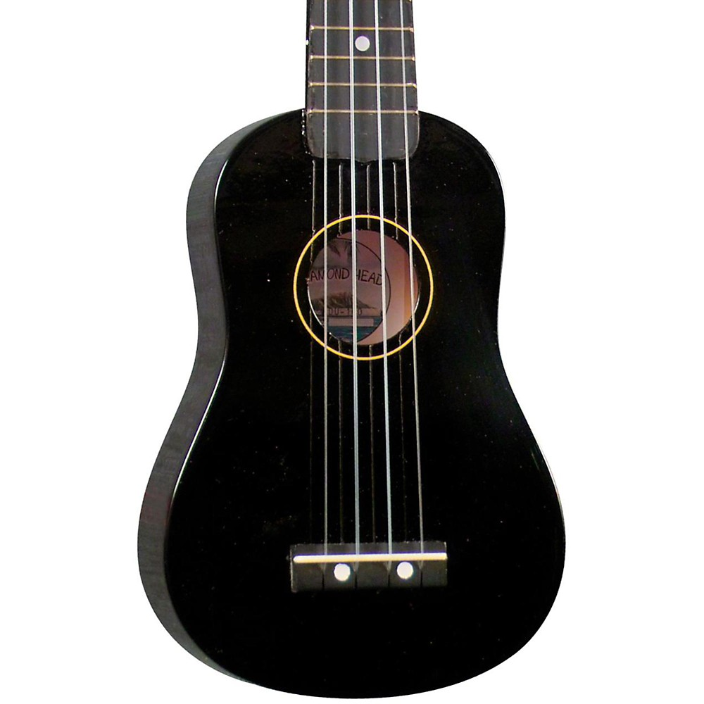 Diamond Head Du-10 Soprano Ukulele Black Black Fingerboard