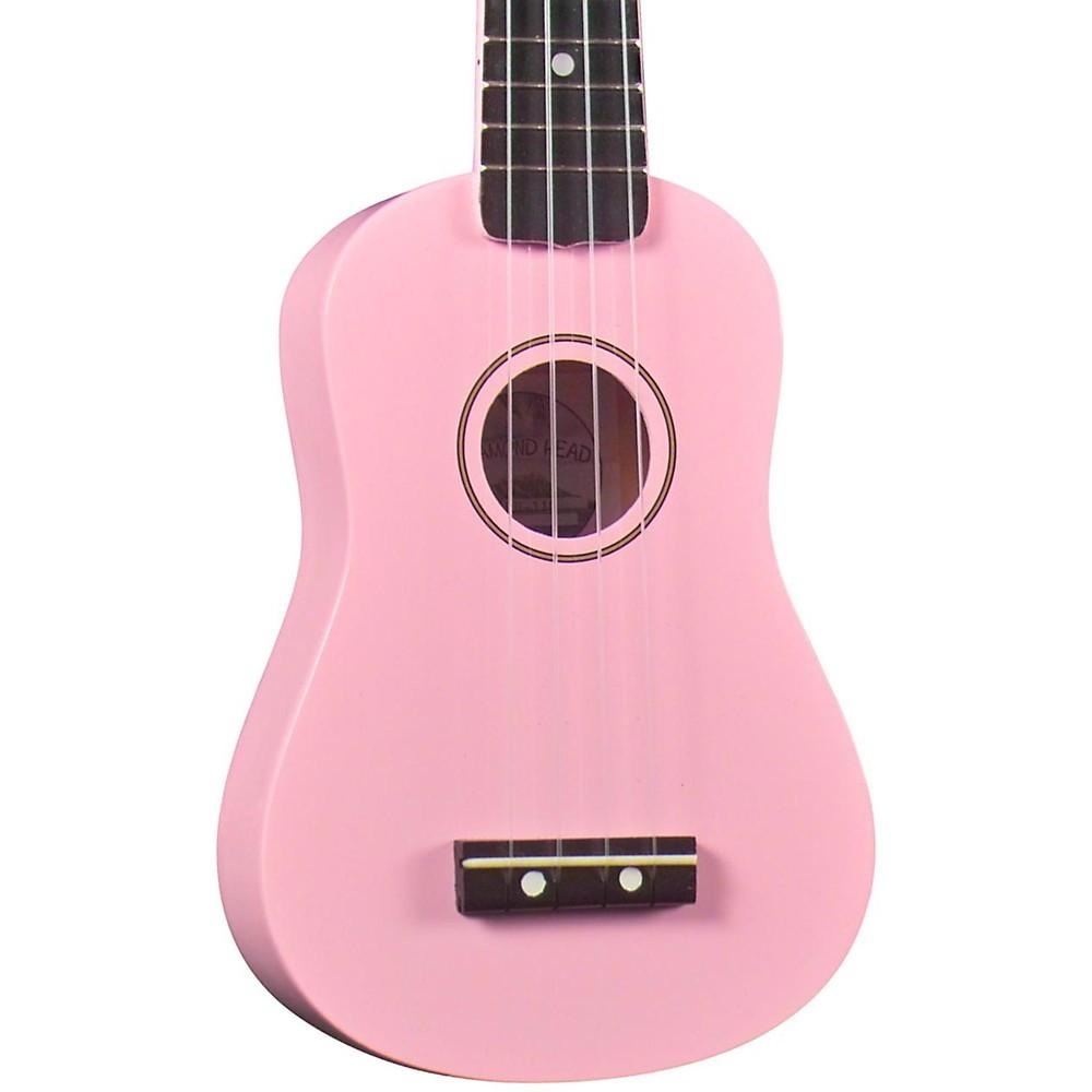 Diamond Head Du-10 Soprano Ukulele Pink Black Fingerboard