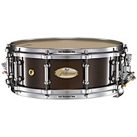 Pearl Philharmonic Solid Maple Snare Drum High Gloss Walnut Bordeaux 14X5