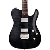 G&L Tribute Asat Deluxe Carved Top Electric Guitar Transparent Black Rosewood Fretboard
