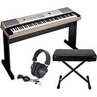 Yamaha Ypg-535 88-Key Portable Grand Piano Keyboardwith Bench And Headphones