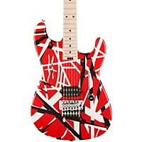 Evh Striped Series Electric Guitar Red With Black Stripes