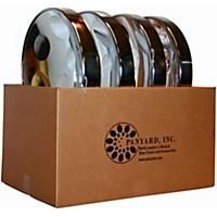 Panyard Jumbie Jam Educator's Steel Drum 4-Pack With Table Top Stands Chrome