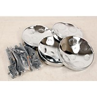 Used Panyard Jumbie Jam Educator's Steel Drum 4-Pack With Table Top Stands Chrome 888365932125