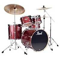 Pearl Export Fusion 5-Piece Drum Set With Hardware Black Cherry Glitter