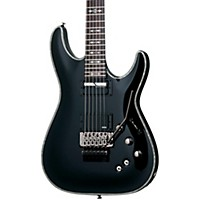 Schecter Guitar Research Hellraiser C-1 With Floyd Rose Sustainiac Electric Guitar Black