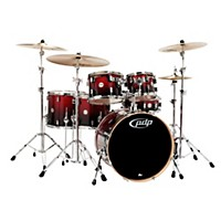 Pdp Concept Maple By Dw 6-Piece Shell Pack Red To Black Fade
