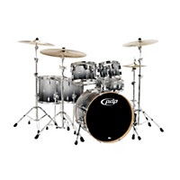 Pdp Concept Maple By Dw 6-Piece Shell Pack Silver To Black Fade