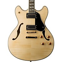 Washburn Usm-Hb35 Hollowbody Dual Humbucker Electric Guitar Natural