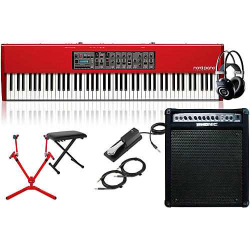Nord HA88 88-Key with Keyboard Amplifier, Matching Stand, Headphones, Bench, and Sustain Pedal