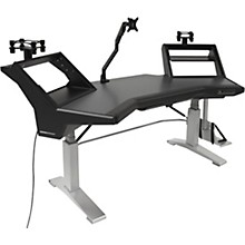 Argosy HALO.E Sit-Stand Desk with 2 Shelves, Speaker Platforms, Accessory Drawer, D8 Monitor Arm