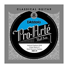 D'Addario HBH-3T Pro-Arte Hard Tension Classical Guitar Strings Half Set