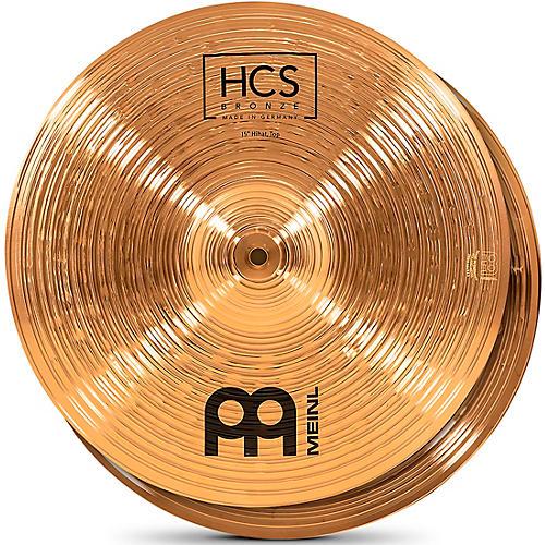 MEINL HCS Bronze Hi-Hat Cymbals 15 in.